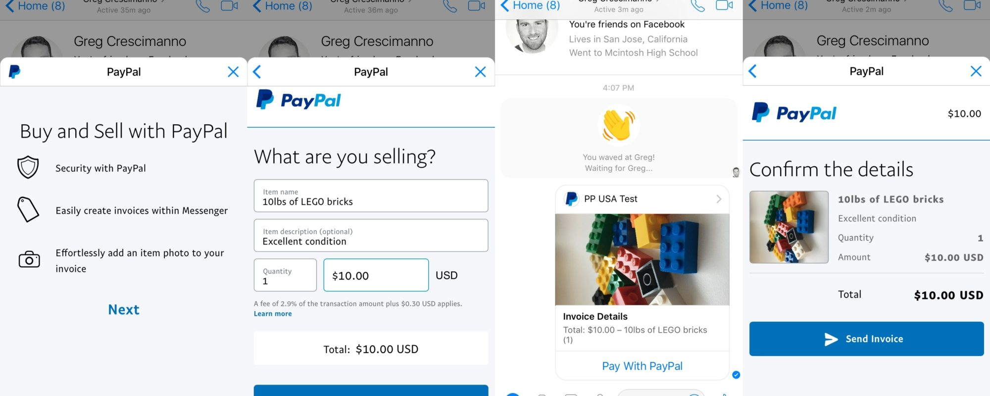 Now you can send PayPal invoices over Facebook Messenger ...
